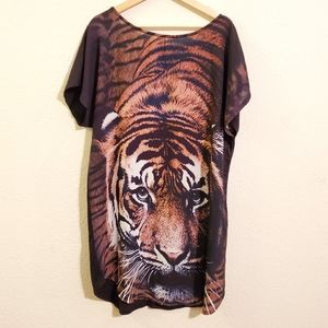 SHEIN Tiger Dress 0XL